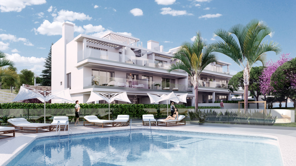 For Sale. New 2 & 3 Bedroom Apartments in Cancelada, Estepona, Malaga, Spain, From € 205,000