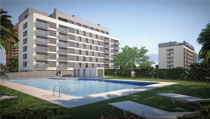 Bank Repossession New 2 & 3 Bedroom Apartments In El Campello, Alicante, From €177,800