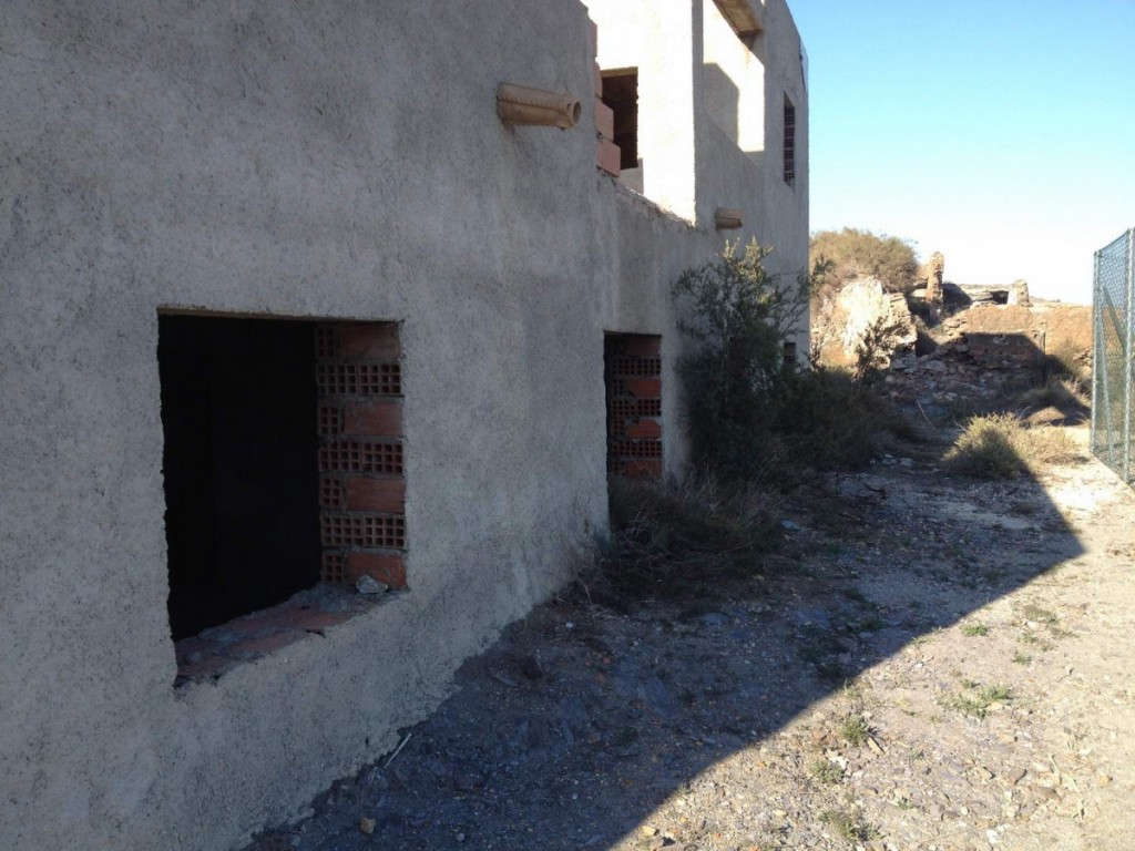 Part built villa with sunning views at the bottom of La Parata, Mojacar, Almeria, Spain, €189,950