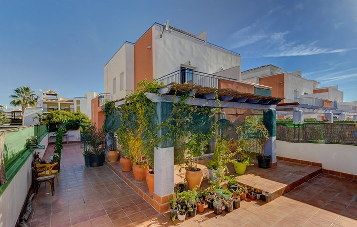 3 Bedroom Semi-Detached Townhouse with Communal Pool in Vera, Almeria, Spain, €169,000