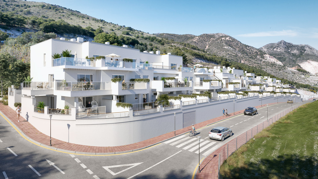 New 2 & 3 Bedroom Apartments in Benalmadena Pueblo, Malaga, From €199,000