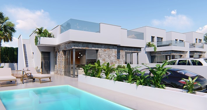 New 2 & 3 Bedroom Detached Villa with Pool in San Juan de los Terreros, From €199,000