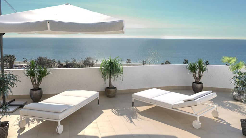 New Beach Front 2 Bedroom Apartments in Mojacar Playa, Almeria, From €155,000