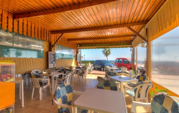 Frontline Bar/Cafe for sale in Mojacar Playa, Almeria, Spain, €265,000