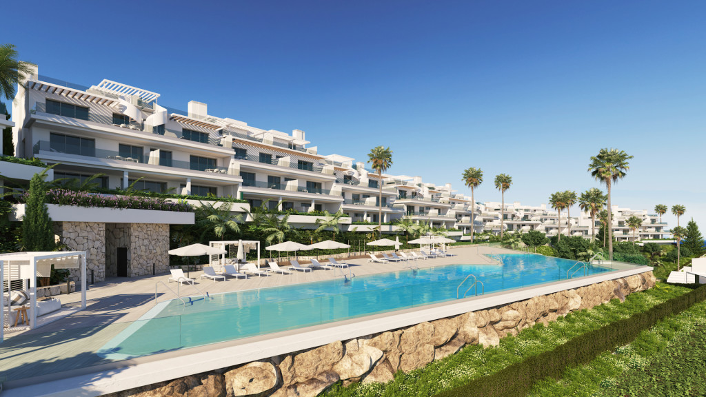 New 2 & 3 Bedroom Apartments and Townhouses in The New Golden Mile, Estepona, From €270,000