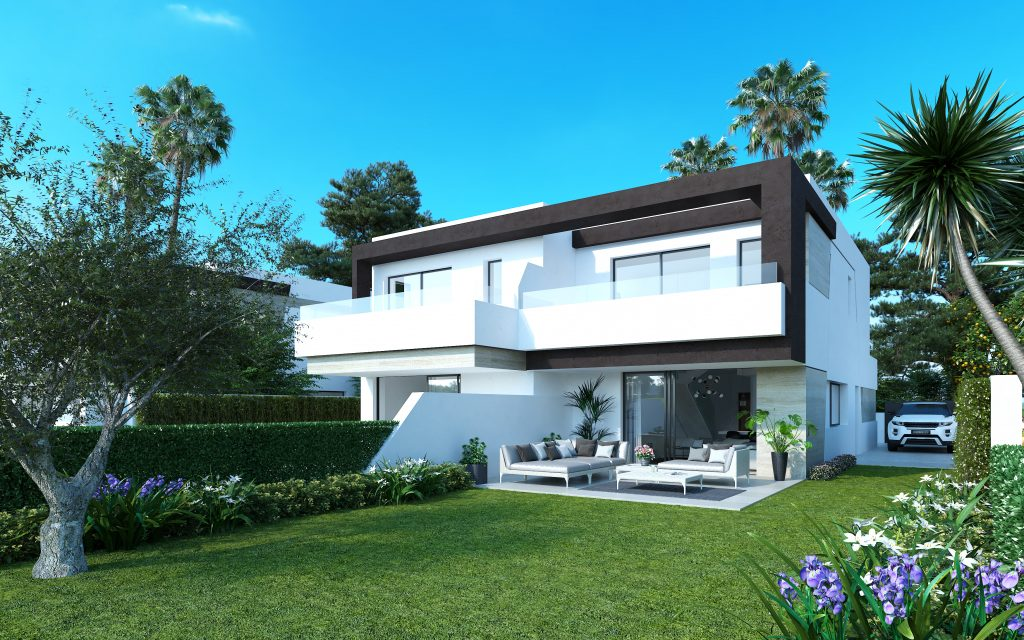 New 4 Bedroom Semi-Detached Villas in The New Golden Mile, Estepona, From €379,000