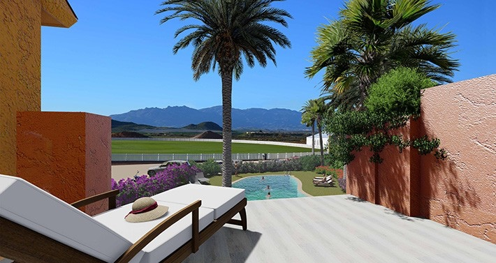 New 2 Bedroom Townhouse in Criquet Residence, Desert Springs, Cuevas, €230,000