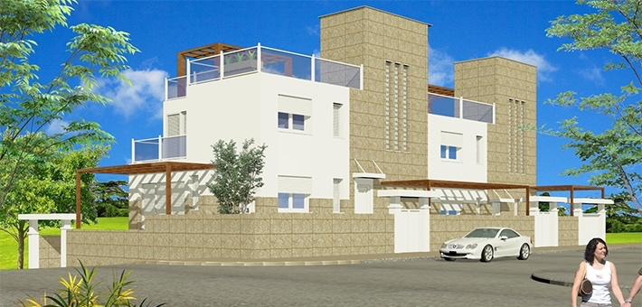 New 4 Bedroom Semi-Detached Villa with Pool in Garrucha, Almeria, €295,000