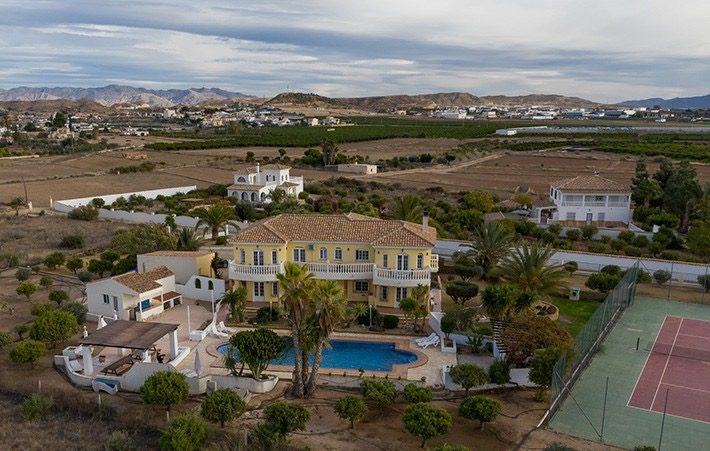 Luxury 7 Bedroom Country House with Heated Pool in Antas, Almeria, Spain, €695,000