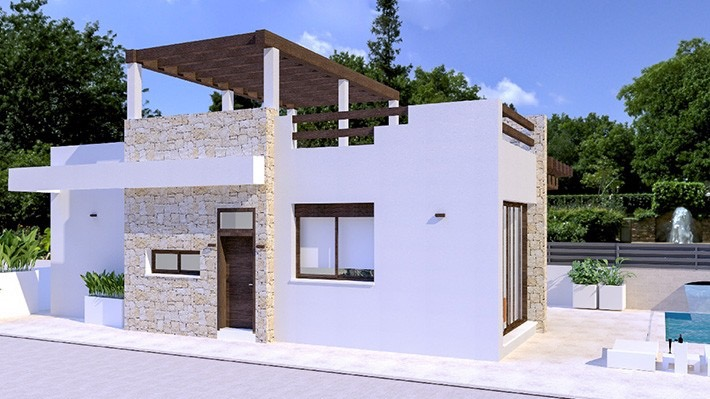 New 3 Bedroom Detached Villa with Private Pool in Vera Playa, Almeria, Spain, From €269,000